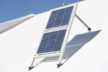 Handmade solar panels.
