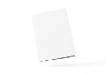 Flyer Broschüre gefalten weiss A4 A5