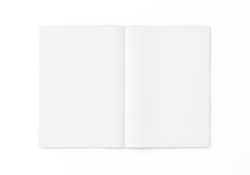 Flyer Broschüre A4 A5 gefalten weiss