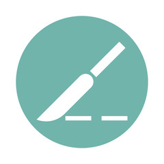 Surgical scalpel icon