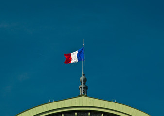 Flag of France on a building
