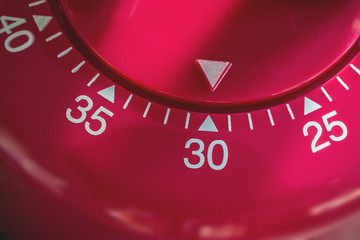 Macro Of A Kitchen Egg Timer - 30 Minutes