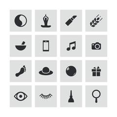beauty, glamour icons universal set