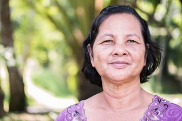 Close up portrait of Thai woman