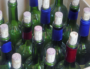 Wine bottles of wine