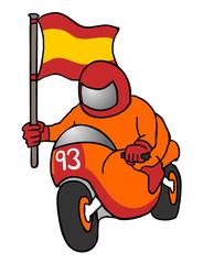 Winner motorcycle racing