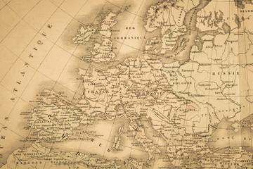 アンティークの世界地図 ヨーロッパ大陸