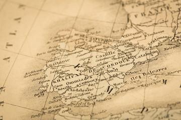 アンティークの世界地図 カスピ海