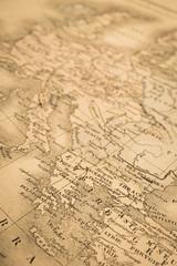 アンティークの世界地図 ギリシャとヨーロッパ