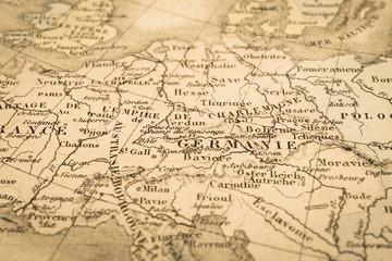 アンティークの世界地図 ドイツ