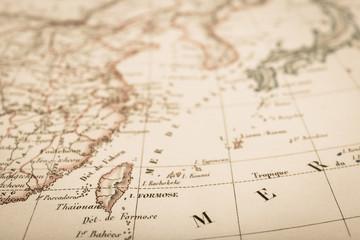 アンティークの世界地図 台湾