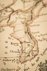 アンティークの世界地図 韓国
