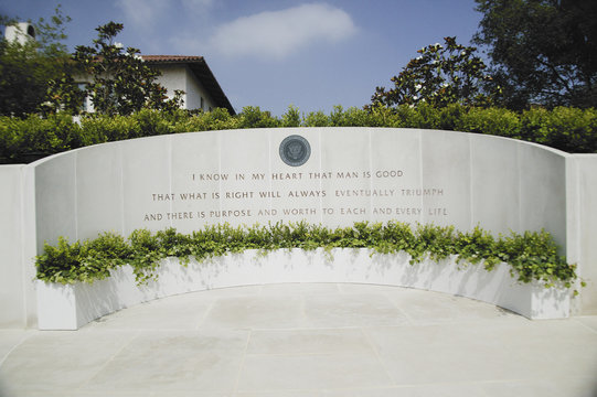 Memorial with Reagan quotation at the Ronald W. Reagan Presidential Library
