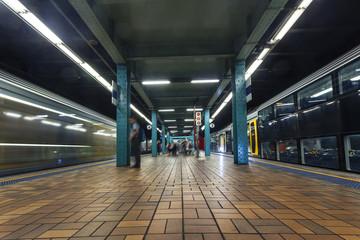 Foto op Canvas Treinstation Sydney Metro