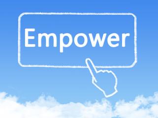 empower message cloud shape