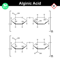 Alginic acid molecular structure