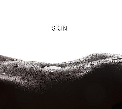 Skin - water drops on woman skin