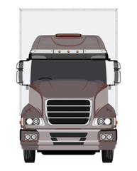 Front brown truck