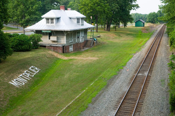 Montpelier Train  Station and tracks in Montpelier Station, VA, Orange County