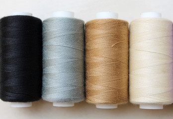 Sewing threads as a multicolored background