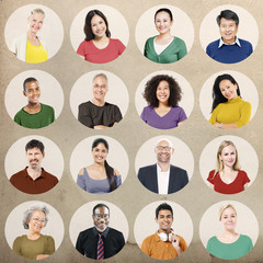 Diverse Group People Multiethnic Collection Concept