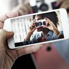 Photograph Camera Telephone Capture Technology Concept