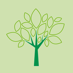 Vector abstract tree in flat design