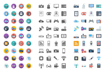 Devices icons flat icon