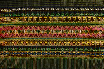 Texture of Thai silk pattern craftsmanship background