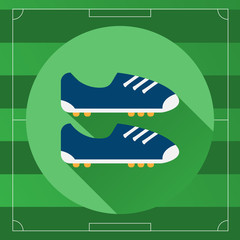 Classic Soccer Boots round icon