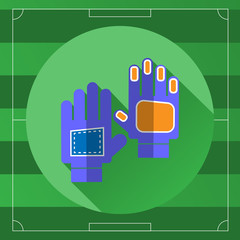 Soccer Goalkeeper Blue Gloves round icon