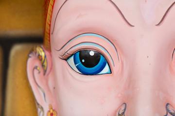 Face mask of Thai god, mythological creature, close up eyes