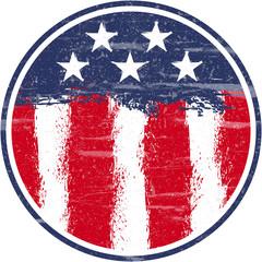 USA Flag, Grunge and Splash Design