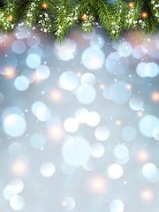 Winter flickering background.