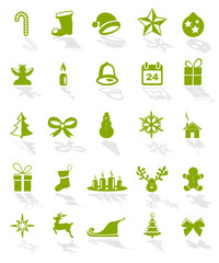 Weihnachtskarte Symbole