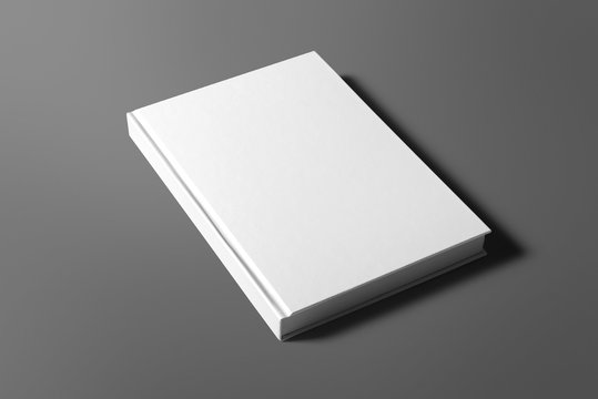 Blank book isolated on grey to replace your design