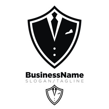 Suit and Tie logo icon Vector