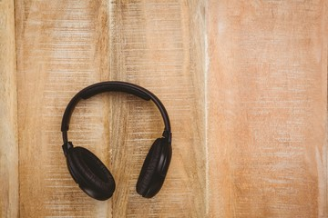 View of a black headphone