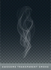 Vector Realistic Cigarette Smoke or Fog or Haze with Transparency Isolated can be used with any Background
