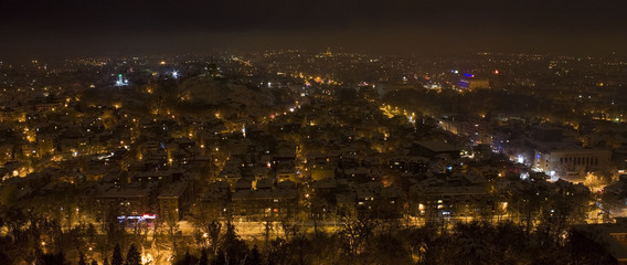 Plovdiv city at the night