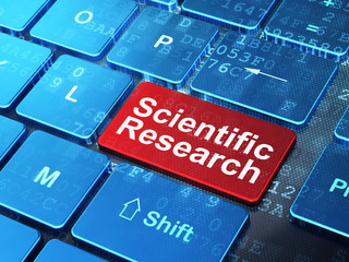 Science concept: Scientific Research on computer keyboard background