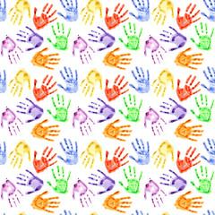 Watercolor hand prints
