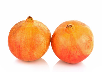 Wall Mural - Pomegranate fruit on white background