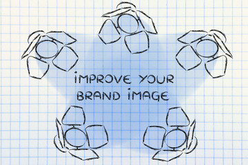 Spotlights with text Improve your brand image