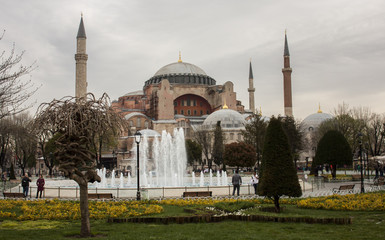 Sultanahmet park and the Blue Mosque, Istanbul