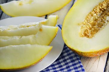 fresh and ripe melon