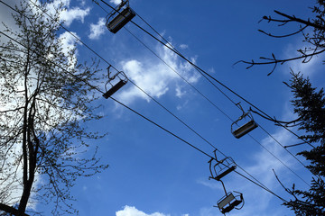 Cable way to mountains