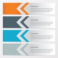 Arrow Banner  Orange , blue, gray color