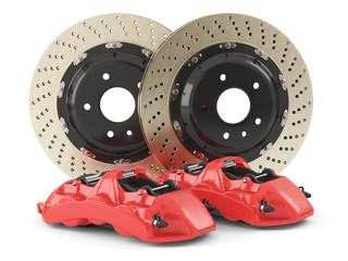 Performance car brakes. Auto parts