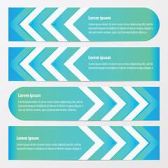 Arrow Banner Design   blue color